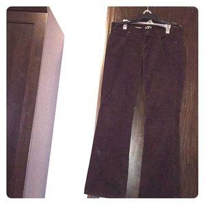 Ann Taylor loft brown corduroy jeans. Size 12.